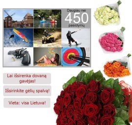 A set of 450 entertainment Lithuania + roses